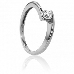 Bague Solitaire Apesanteur Or Blanc & Diamant 0,30ct