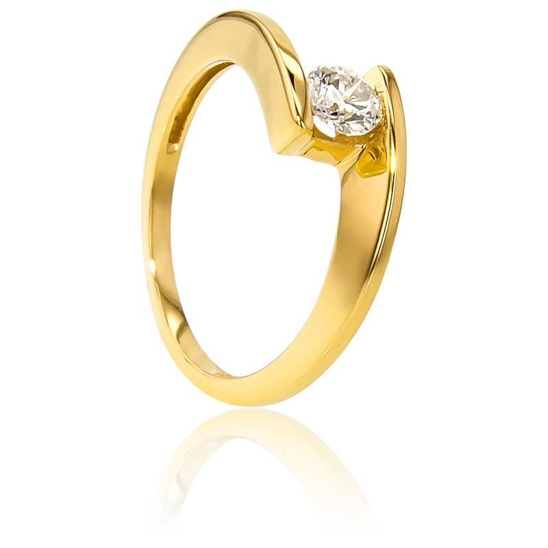 bague solitaire apesanteur or jaune diamant 0 30 ct ocarat. Black Bedroom Furniture Sets. Home Design Ideas