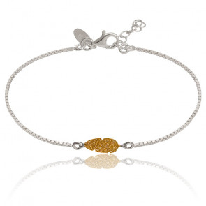 Bracelet Chaîne Plume Glitter Dorée