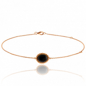 Bracelet Berlingot Mini Or Rose Onyx