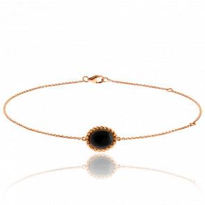 Bracelet Berlingot Mini Or Rose Onyx - Lovingstone