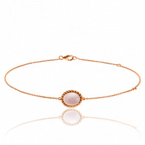 Bracelet Berlingot Mini Or Rose Quartz Rose