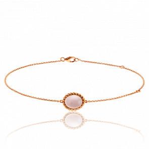 Bracelet Berlingot Mini Or Rose Quartz Rose - Lovingstone