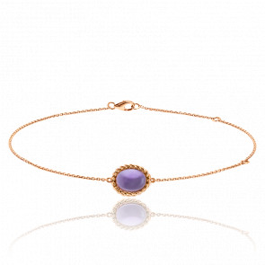 Bracelet Berlingot Mini Or Rose Amethyste