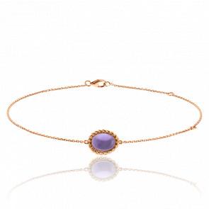 Bracelet Berlingot Mini Or Rose Amethyste - Lovingstone