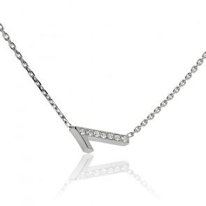 """Collier Chiffre """"1"""" Argent et Diamants"""
