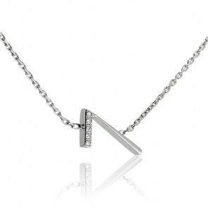 """Collier Chiffre """"7"""" Argent et Diamants"""