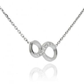 """Collier Chiffre """"8"""" Argent et Diamants"""
