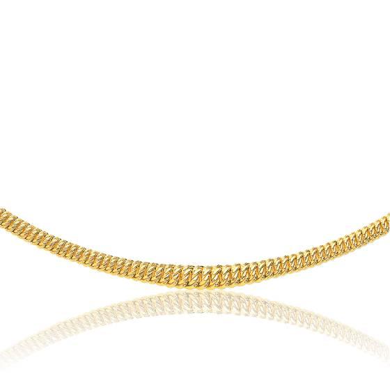Collier en chute Maille Américaine Creuse, Or Jaune 18K, longueur 45 cm
