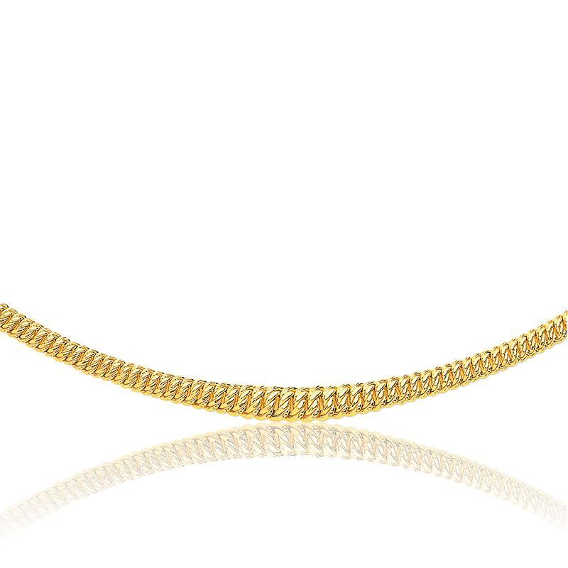 Bracelet maille americaine or 18k