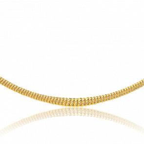 Collier en chute Maille Américaine Creuse, Or Jaune 18K, longueur 50 cm