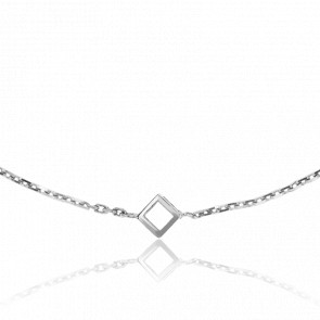 Bracelet Nano Cube Or Blanc