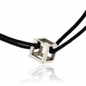 Bracelet Mini Quadrature Or Blanc Cordon