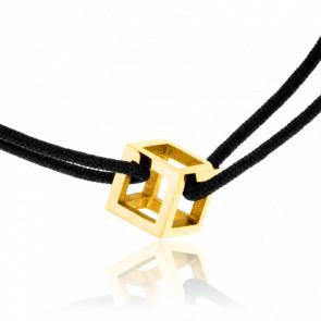 Bracelet Mini Quadrature Or Jaune Cordon