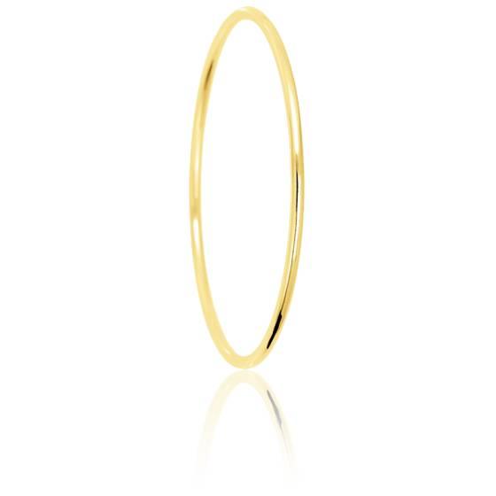 style de mode personnalisé images détaillées Bracelet jonc ovale en or 18 carat, 11 largeurs différentes, 60 mm de  diametre - Ocarat