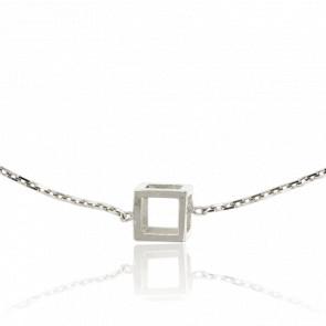 Bracelet Mini Quadrature Or Blanc