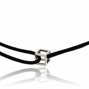Bracelet Nano Cube Or Blanc Cordon
