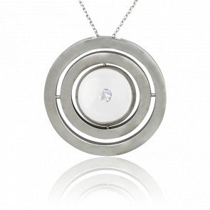 Collier Cinétique argent et diamant 0.05 carat