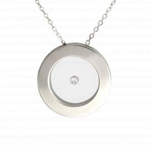 Collier Cercle argent et diamant 0.05 carat