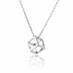 Collier Quadrature Argent