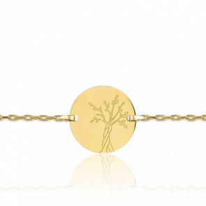 Bracelet Arbre de Vie Maille Forcat Or Jaune