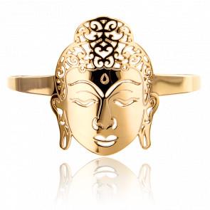 Bracelet Manchette Bouddha Plaqué Or Jaune