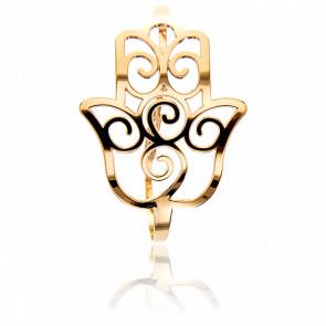 Bracelet Manchette Main de Fatma Doré