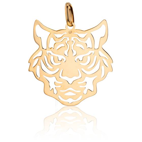 Pendentif Tigre Plaqué Or Jaune
