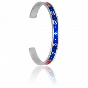 Bracelet Steel Red & Blue