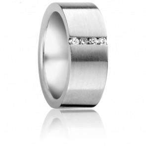Bague Johannes Diamants & Acier