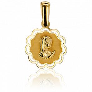 Médaille Vierge Contour Ajouré Or Jaune 18K