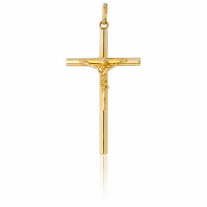 Christ en Croix Fil Rond 31 x 18 mm Or Jaune 18K