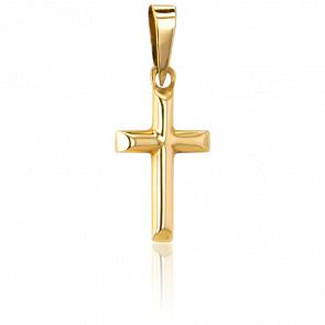 Croix Biseautée 16 x 9,5  mm Or Jaune 9K - Vandona