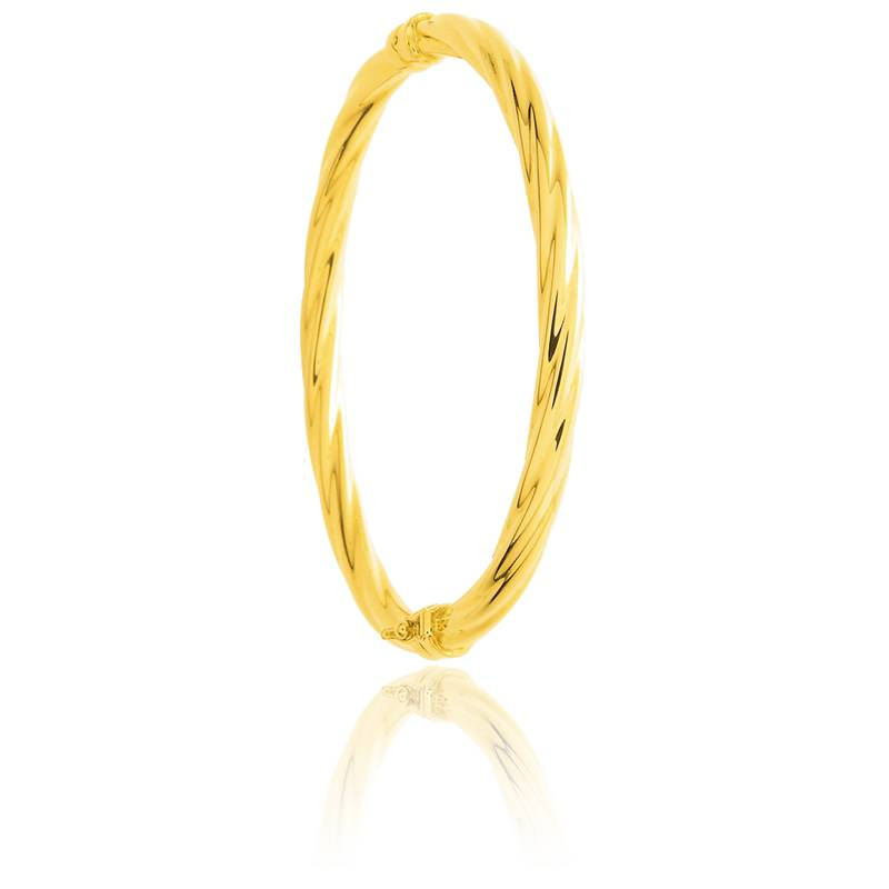 bracelet jonc torsad or jaune 18k emanessence ocarat. Black Bedroom Furniture Sets. Home Design Ideas