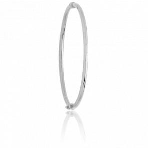 Bracelet Jonc Creux Lisse Or Blanc 18K