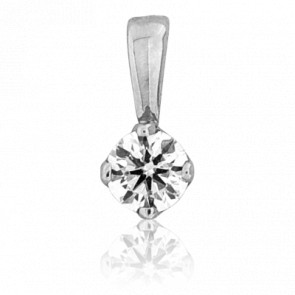 Pendentif Alone Diamant & Or blanc 18K