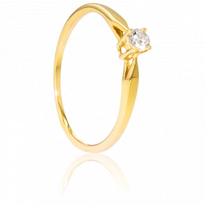 Bague Solitaire Paris Or Jaune & Diamant 0,14ct