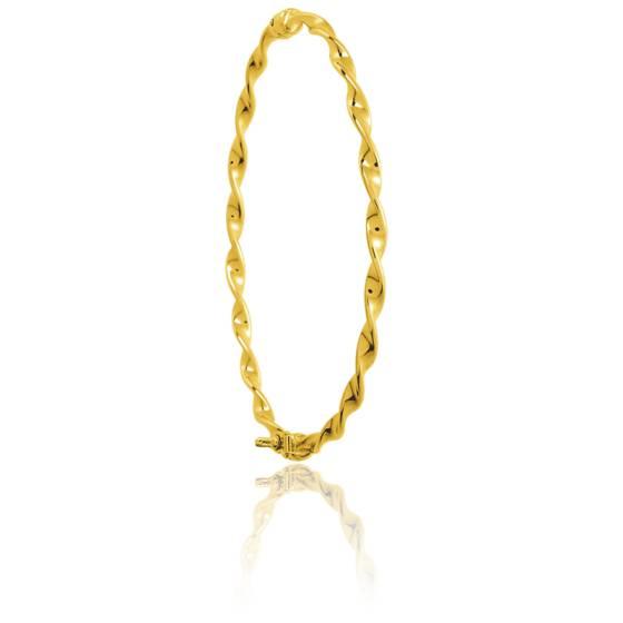 bracelet jonc torsad en or jaune avec ouverture ocarat. Black Bedroom Furniture Sets. Home Design Ideas