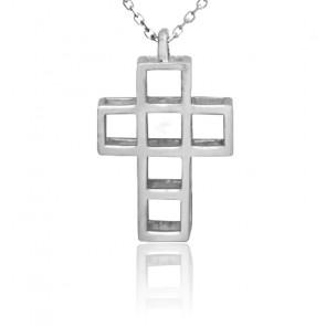 Collier Croix 6 argent