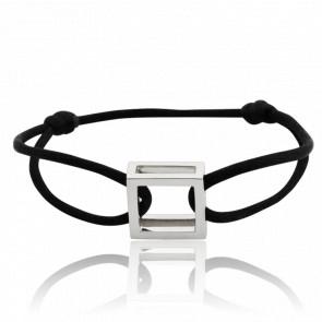 Bracelet Carré Argent Cordon - Pascal Morabito