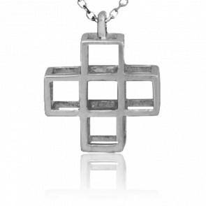 Collier Croix 5 argent