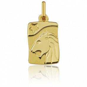Pendentif Signe du Zodiaque Lion Or Jaune 9K