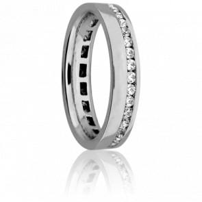 Bague Décalage Diamanté 0,55 carat 4,50 mm