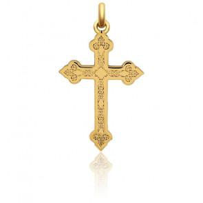 Croix Gothique Or Jaune 18K