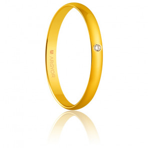 Alliance Madrid 2,50 mm Diamant & Or Jaune 18K