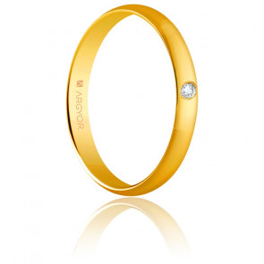 Alliance Madrid 3 mm Diamant et or jaune 18K