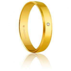 Alliance Ademuz Or Jaune 4 mm et Diamant