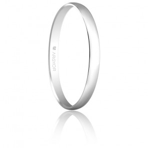Alliance Madrid 2 mm Or Blanc 18K