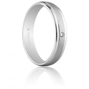 Alliance Lalueza Or Blanc et Diamant 4 mm - Argyor