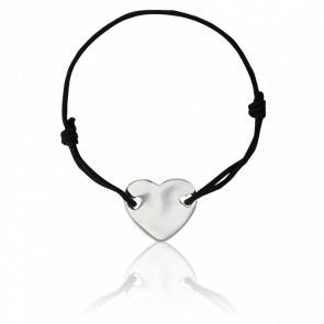 Bracelet Coeur 2 Trous Argent A Graver